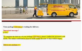 DHL Scam Email