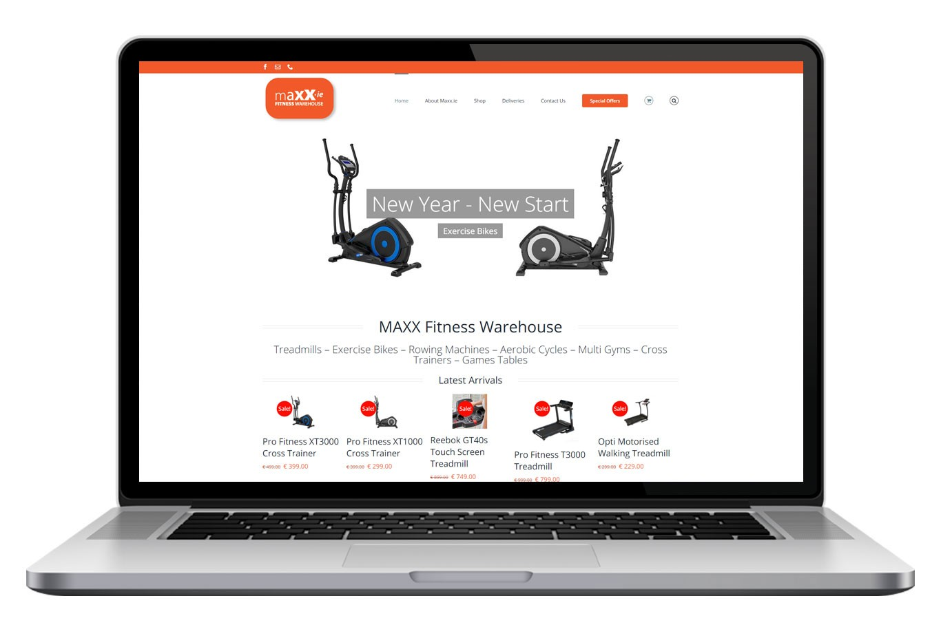 Maxx Fitness Warehouse Website Design