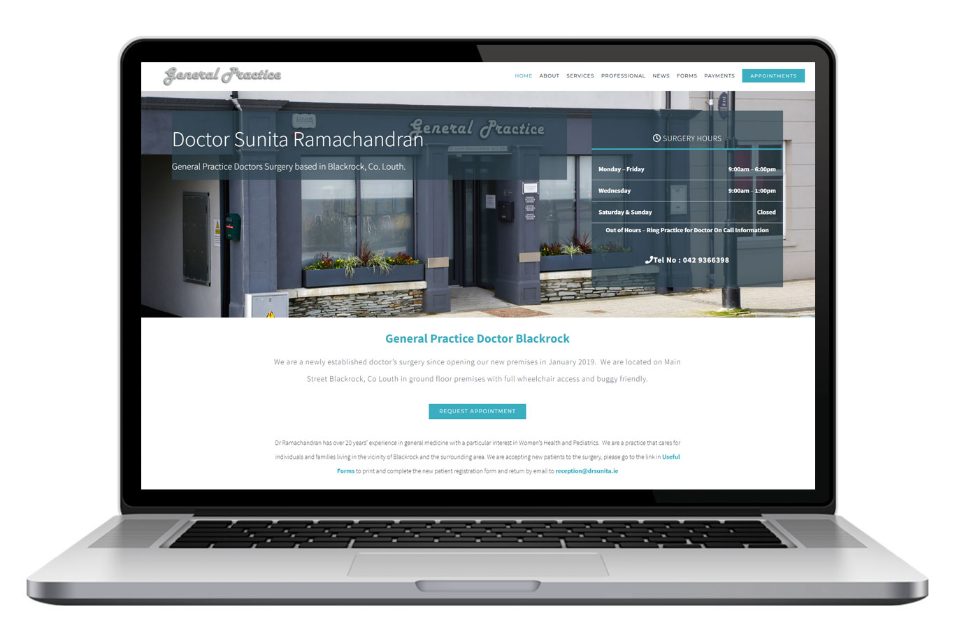 Doctor Sunita Blackrock Website Design